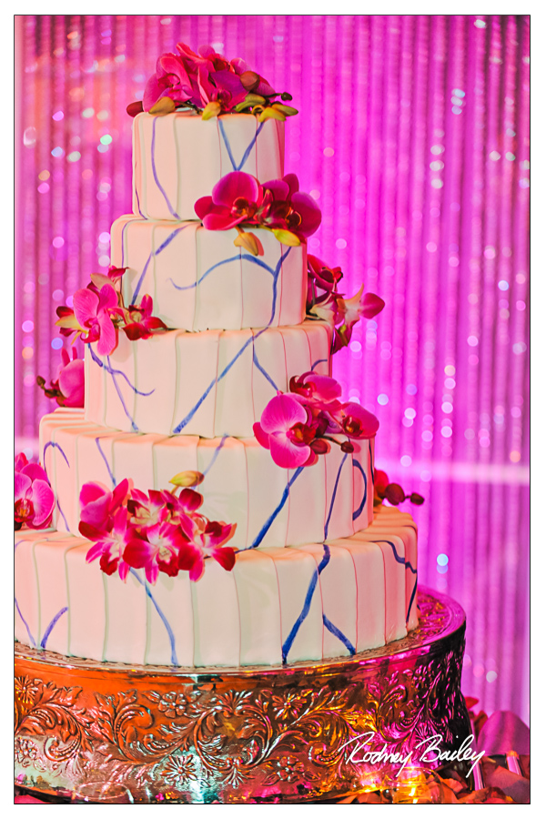 Selecting a Wedding Cake in DC, VA and MD wedding cakes maryland wedding cake with orchids washington dc wedding rodney bailey photography