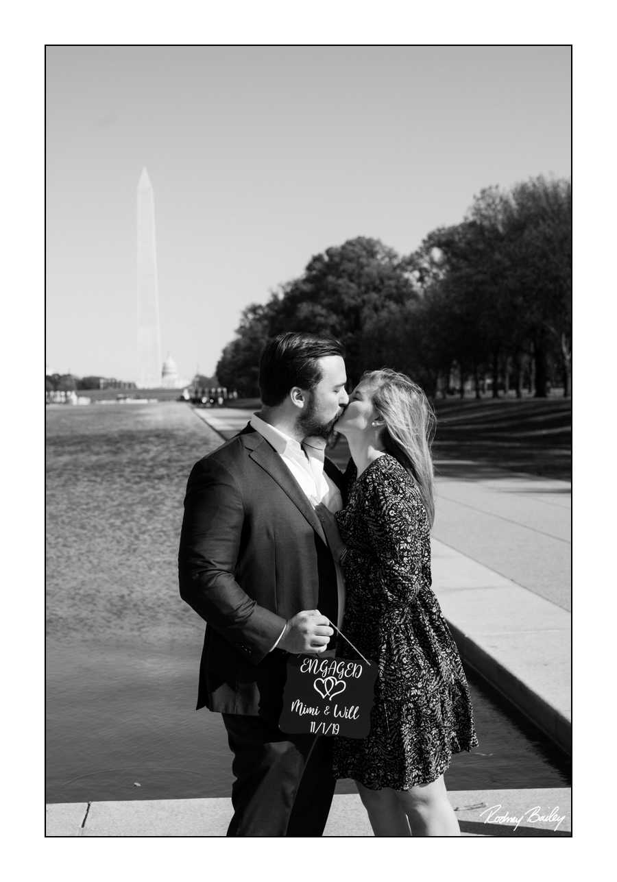 Washington DC Lincoln Memorial Rodney Bailey engagement proposal photography