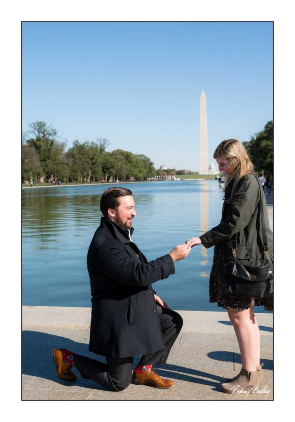 On Bended Knee | Washington DC Marriage Proposal Photography at The Lincoln Memorial