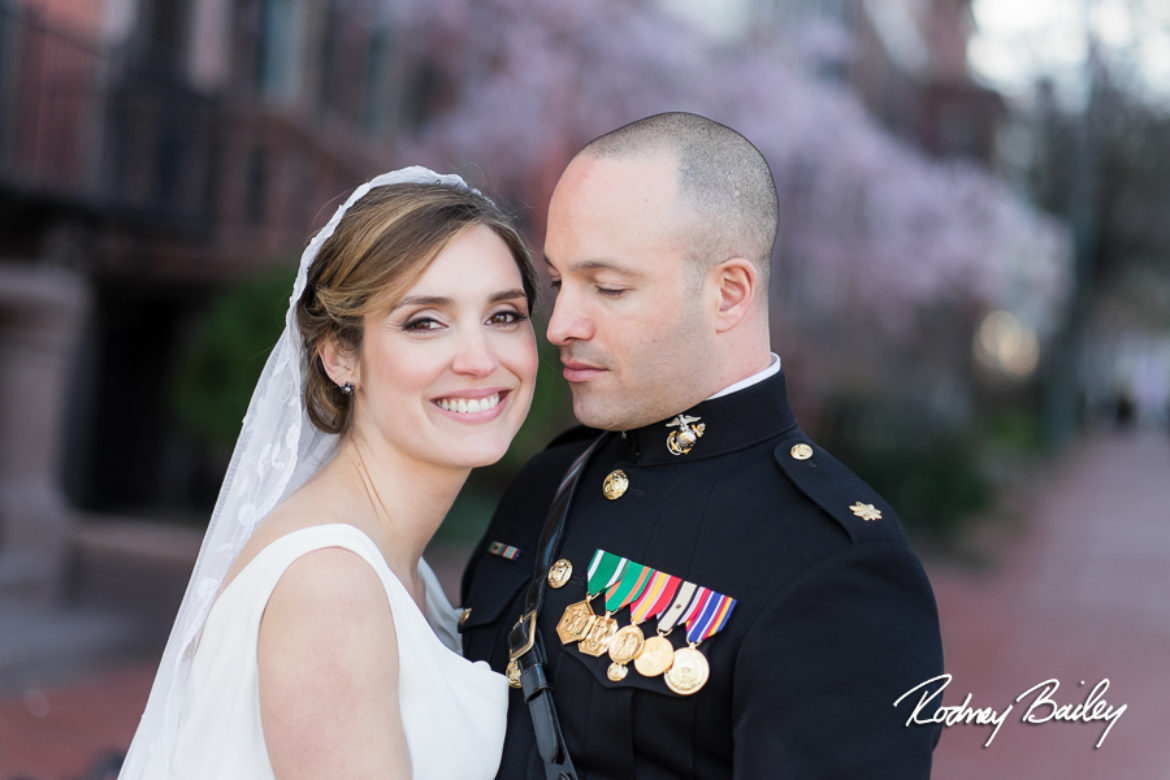 Washington DC Cherry Blossom Wedding Photographers at Decatur House