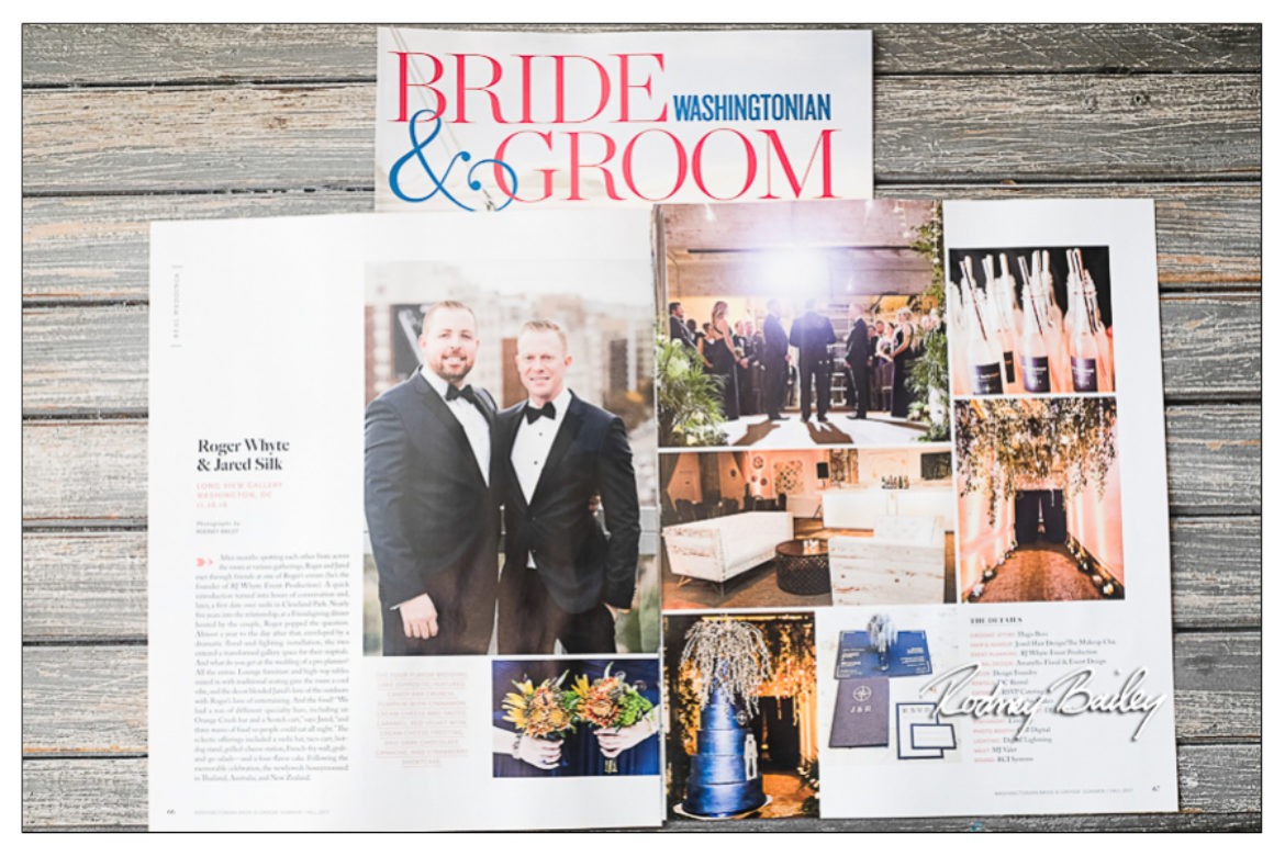 Washingtonian Magazine Features Gay Wedding Long View Gallery Washington DC