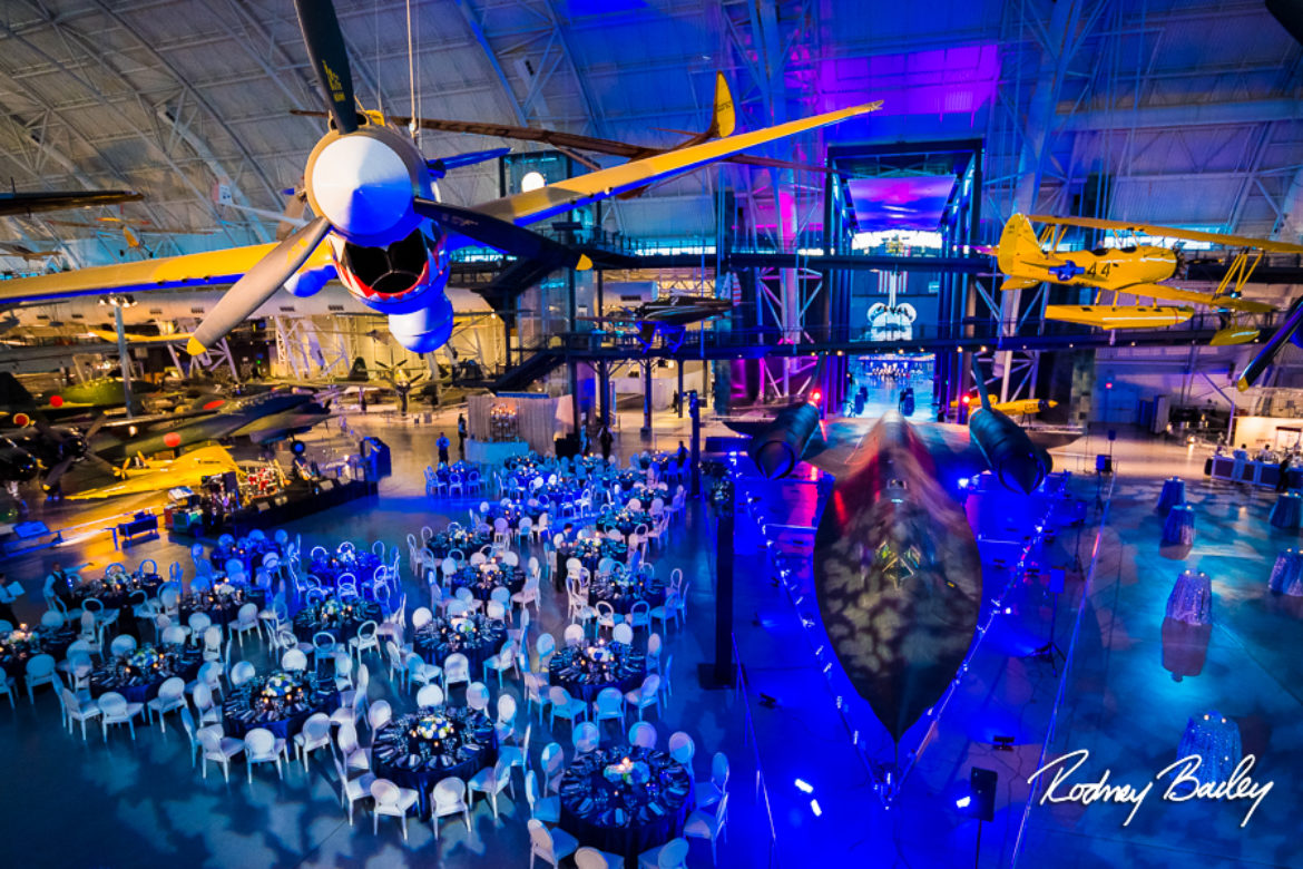 Say Yes to Events in the Burbs! | Northern Virginia Event Photographers at Smithsonian's National Air & Space Museum Udvar-Hazy Center
