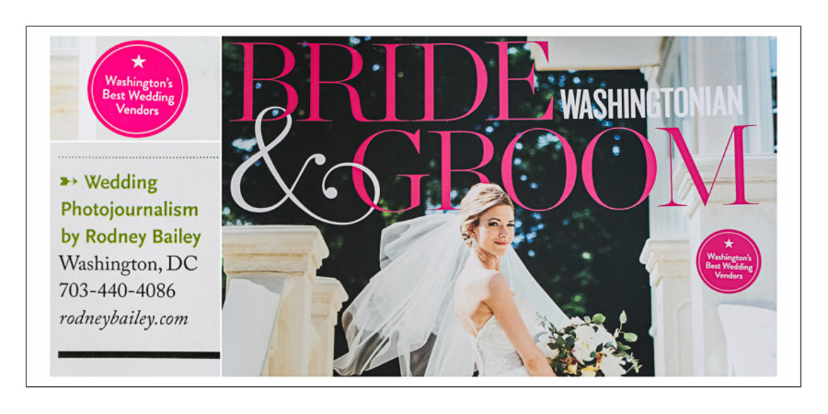 Washingtonian Magazine's Best Wedding Photographer Washington DC